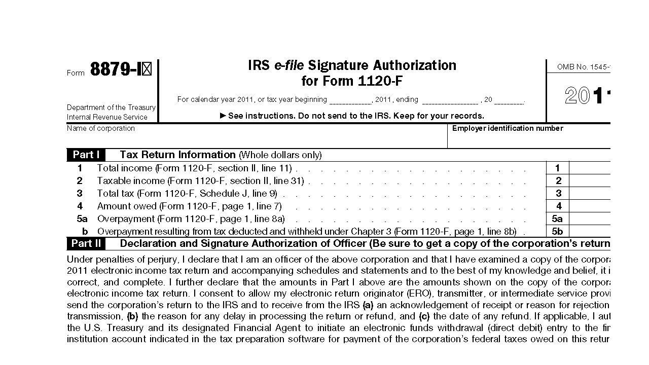 Downloadable Form 8879 IRS E-File Signature Authorization - 2014 Tax ...