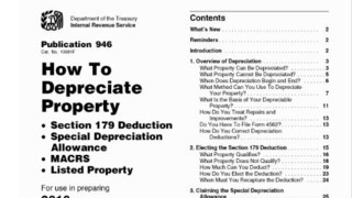Printable IRS Publication 946 - How to Depreciate Property