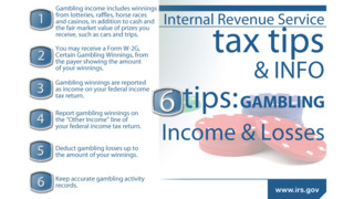 6 Tips on Gambling and Income Taxes: Don't Play the IRS for a Sucker