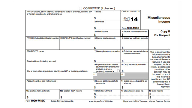 1099 2015 form Printable 2014 Form 1099-MISC Instructions | CPA Practice Advisor