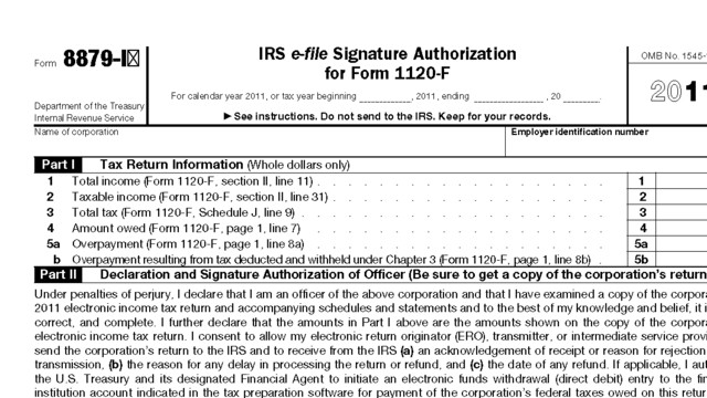 Downloadable Form 8879 IRS E-File Signature Authorization - 2014 ...