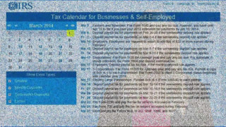 How Small Businesses & Self-Employed Can Use the IRS Online Tax Calendar