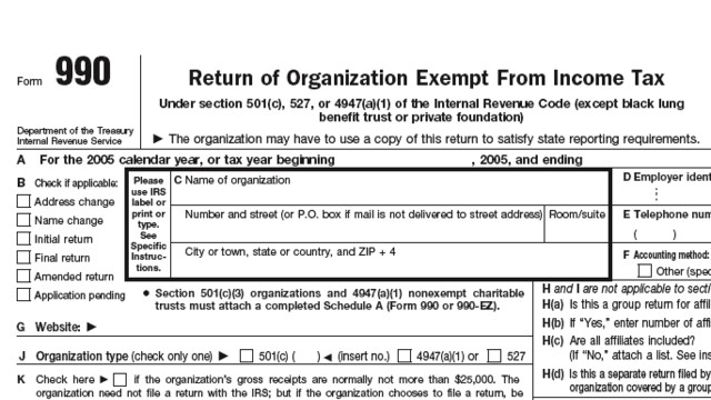 Deadline For TaxExempt Form S Is Tuesday May