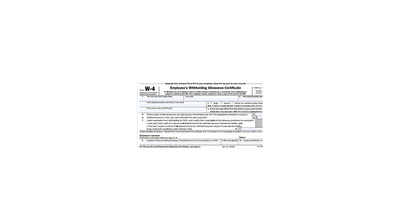 Printable IRS Form W-4 for Tax Year 2017 - For 2018 Income Tax ...