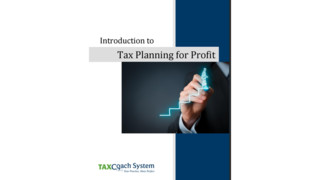 Introduction to Tax Planning for Profit