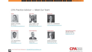 2017 CPA Practice Advisor Staff - Contact Us