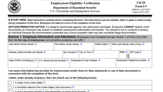 PDF of I-9 Form - 2016 Employment Eligibility