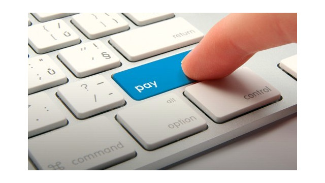 Online Payment keyboard button