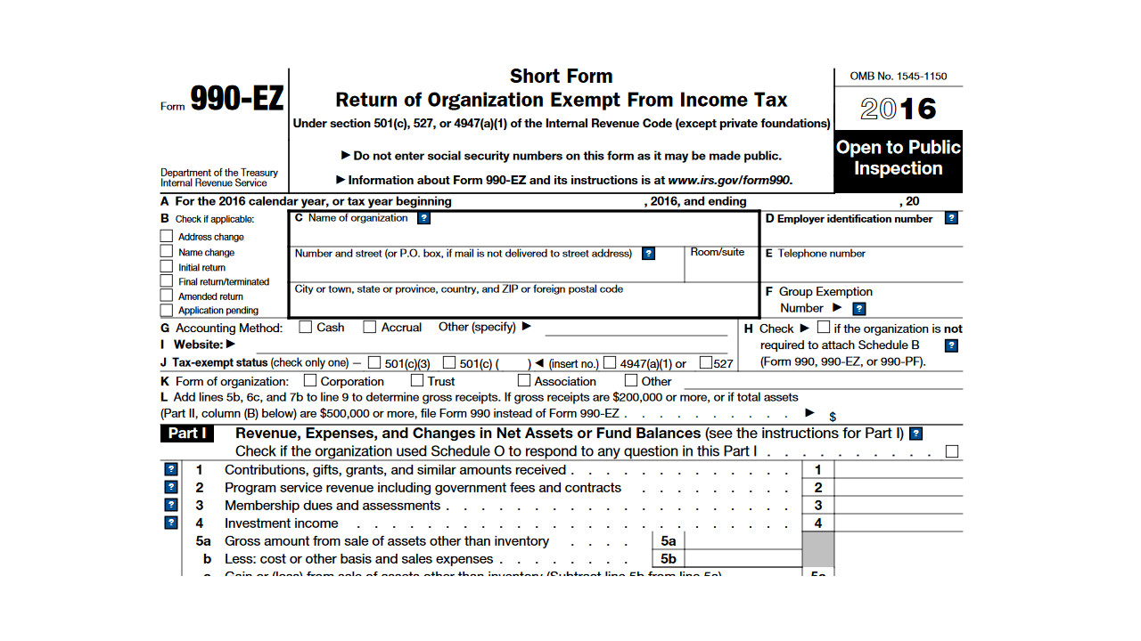 irs issues new form 990
