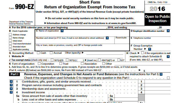 Irs Issues New Form 990 Ez Cpa Practice Advisor