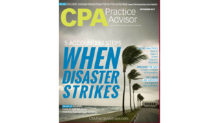 Sept. 2017 Issue: CPA Practice Advisor - Disaster Preparation, Point-of-Sale