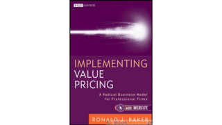 The Diffusion of Value Pricing in the Profession