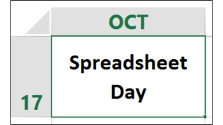 National Spreadsheet Day - Oct. 17