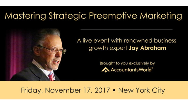Exponential Growth for Accountants: A Live Event with Jay Abraham