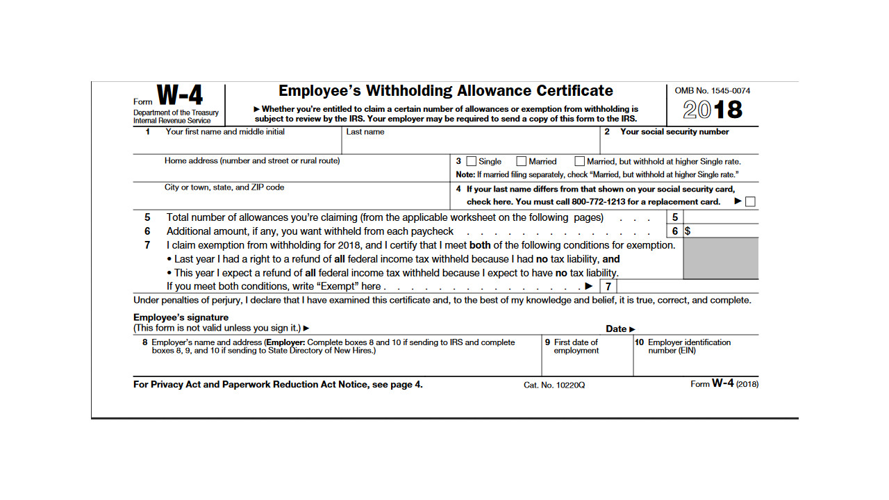 Printable 2018 Form W 4 Cpa Practice Advisor