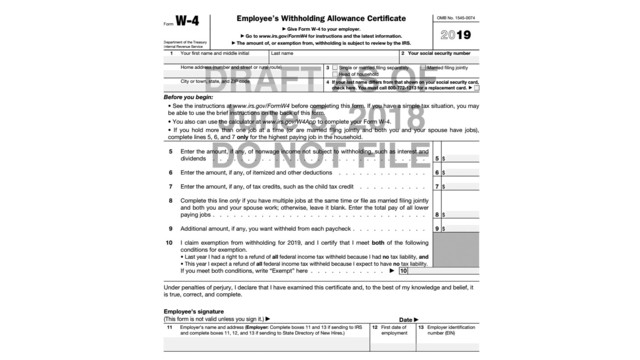 i 4 form Big Changes for the New W-4 Form | CPA Practice Advisor
