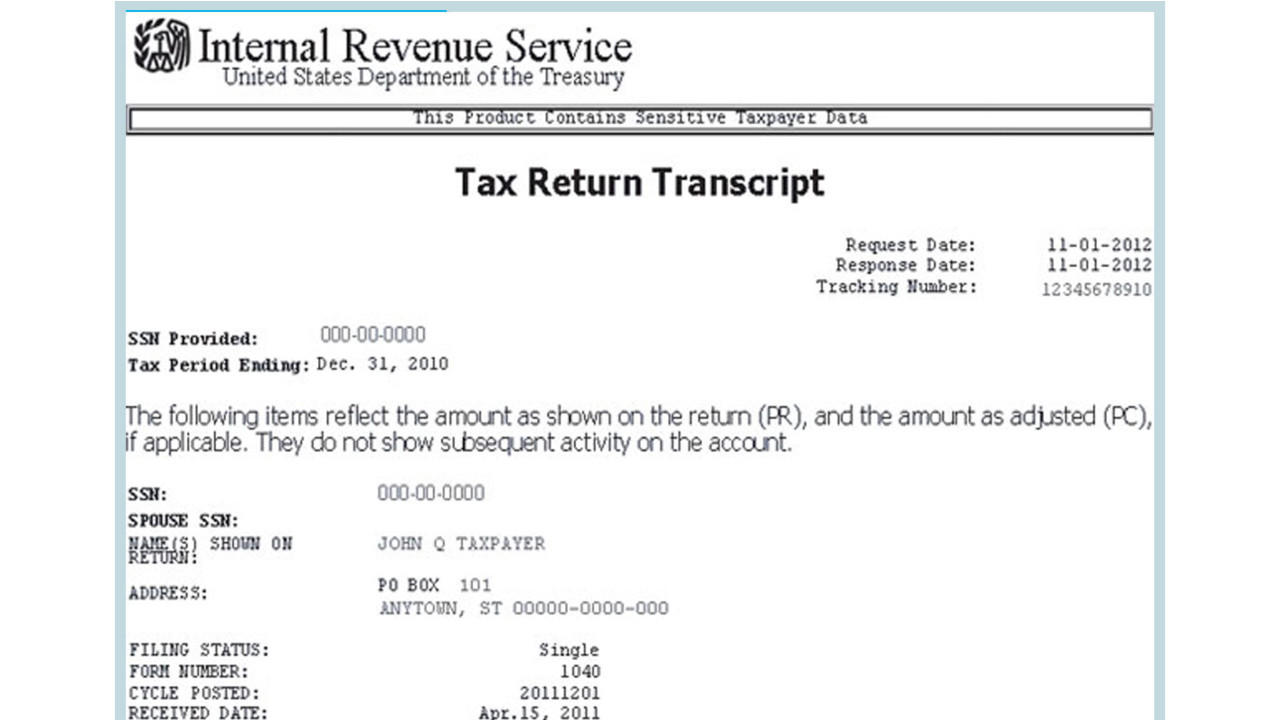 IRS Redesigns Tax Transcript to Protect Taxpayer Data
