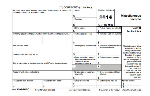 1099 form instructions  Printable 12 Form 12-MISC Instructions