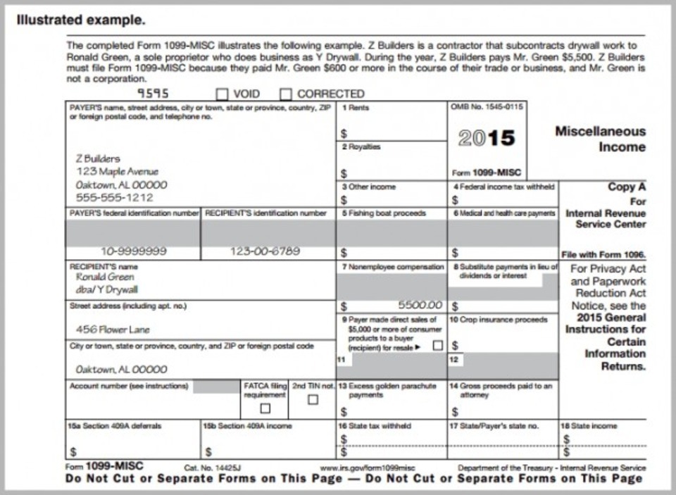 1099 form 2019 printable  free 10 template download - Wpa.wpart.co