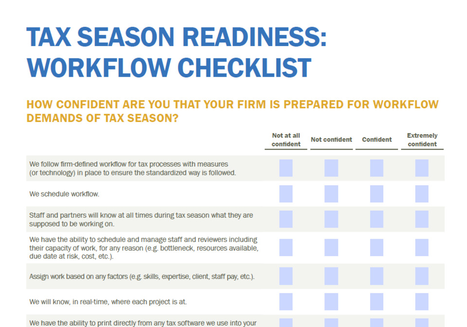 Workflow Checklist: Is Your Firm Ready for Tax Season?