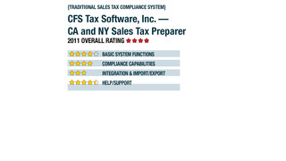 2011 Review of CFS Tax Software, Inc. — CA and NY Sales Tax Preparer