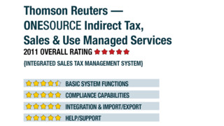2011 Review of Thomson Reuters — ONESOURCE Indirect Tax, Sales & Use Managed Services