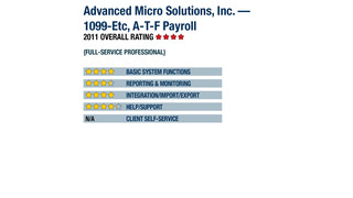 2011 Review of Advanced Micro Solutions, Inc. — 1099-Etc, A-T-F Payroll
