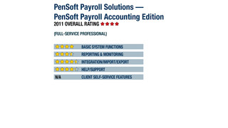 2011 Review of PenSoft Payroll Solutions—PenSoft Payroll Accounting Edition