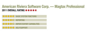 2011 Review of American Riviera Software Corp. — Magtax Professional
