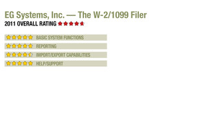 2011 Review of EG Systems, Inc. — The W-2/1099 Filer