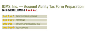 2011 Review of IDMS, Inc. — Account Ability Tax Form Preparation