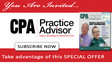 Enjoy a FREE subsciption to CPA Practice Advisor magazine