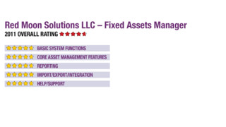 2011 Review of Red Moon Solutions LLC – Fixed Assets Manager