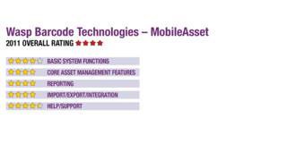 2011 Review of Wasp Barcode Technologies – MobileAsset