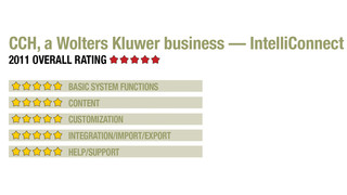 2011 Review of CCH, a Wolters Kluwer business — IntelliConnect