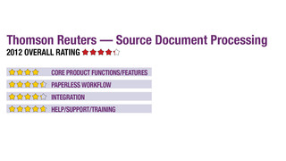 2012 Review of Thomson Reuters — Source Document Processing