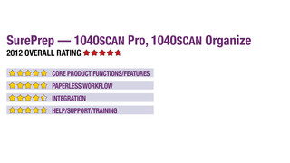 2012 Review of SurePrep — 1040SCAN Pro, 1040SCAN Organize
