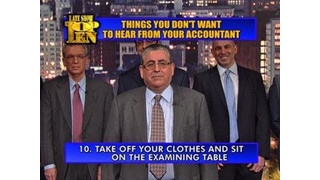 David Letterman - Top Ten Things You Don't Want To Hear From Your Accountant