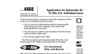 Printable 2014 IRS Form 4868 - Automatic Extension of Time to File U.S. Income Tax Return
