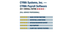 2011 Review of CYMA Systems, Inc. — CYMA Payroll Software