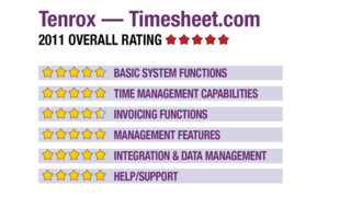 2011 Review of Tenrox — Timesheet.com