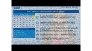 2014 IRS Tax Calendar for Businesses & Self-Employed